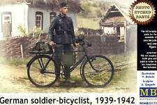 Masterbox German Soldier military bicycle MG Fahrrad Modell-Bausatz 1:35 Diorama