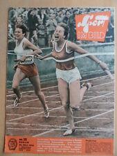 SPORT IM BILD 15 - 25.7. 1958 Leichtathletik Turn-WM Schach Ostseewoche Zätopek