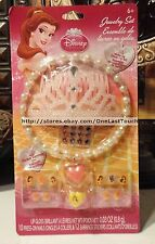 25pc DISNEY PRINCESS Dress Up Set/Lot/Kit BELLE Tiara+Ring+Sticker Earings+Nails