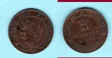 RARE SUP 2 CENTIMES 1878 A