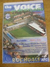 05/01/1999 Rochdale v Stoke City [Auto Windscreens Shield] . Good condition unle