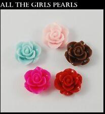 10 Piezas Mixtas color de resina Cabuchones Planos posterior Flor 20 Mm. (box107)