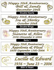 50th GOLDEN WEDDING ANNIVERSARY BANNER - PERSONALIZED