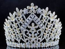 DAISY AUSTRIAN CRYSTAL RHINESTONE TIARA CROWN BRIDAL PROM PAGEANT T1861G GOLD