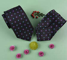 "Various Pedal Floral 3"" Tie Formal Business Dress Fashion Regular Flower Necktie"