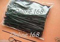 "Plastic Coated Wire Ties Twist Ties 500pcs_6""_150mm Black"