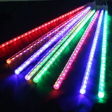 144 LED Meteor Shower Rain Light Tube Strings Christmas Tree Decoration RBG