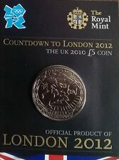 2010 £5 ROYAL MINT CROWN COUNTDOWN TO LONDON 2012 2 FIVE POUND COIN UNCIRCULATED