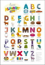 "014 Kids Alphabet ABC Learning LAMINATED 14""x20"" Poster"