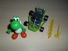 Yoshi Mario Kart 64 Action Figure Toy Biz 2000 DK w/ Cart & Bananas
