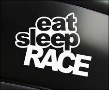 EAT SLEEP RACE, Car Decal Vinyl Sticker JDM Mazda Nissan Toyota Mitsubishi