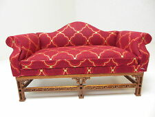 Dollhouse Miniatures Furniture  1130rf15-wn Upholstered Walnut Couch