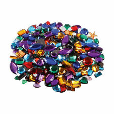 Gemstones Colourful Acrylic Jewels 250g Approx.400 Assorted Flat Backed CT2269