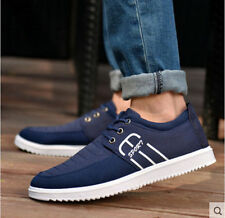 Fashion Men's England Loafer Canvas Breathable lace up Flats Casual shoes US10