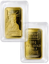 Credit Suisse 20 Gram .9999 Gold Bar -New Sealed With Assay Certificate SKU27434