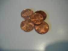 BAHAMAS 1 CENT COIN 5 PIECES- COAT OF ARMS / STARFISH