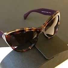 Prada Women's Spotted Havana Purple Cat Eye Sunglasses SPR02Q PDN-6P1 56mm NEW