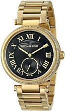 Michael Kors Women's MK5989 Skylar Black Dial Gold-Tone Steel Bracelet Watch