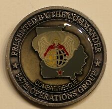 347th Ops Group Combat Rescue Commanders Air Force Pararescue PJ Challenge Coin