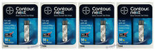 Bayer Contour Next Blood Glucose 200 Test Strips (4 Boxes of 50) Exp 1-Year+