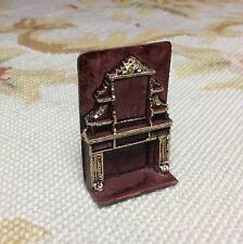 """Dollhouse Miniature Pat Tyler 1/4"""" Scale Handcrafted Fireplace"""