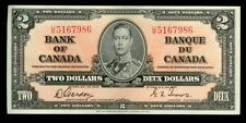 1937 CANADA $2DOLLAR KING GEORGE VI BANK NOTE CONDITION EXTREMELY FINE KP # 59b