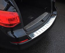 BRUSHED REAR BUMPER SILL PROTECTOR COVER TRIM FOR VAUXHALL ASTRA J SPORTS TOURER