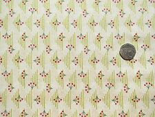Geometric triangle yellow with flowers fabric 1 metre x 112cm 100% Cotton  11291