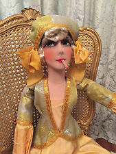 ANTIQUE FRENCH BOUDOIR DOLL/POUPEE DE SALON/SMOKING/PHYLLIS HAVER STYLE