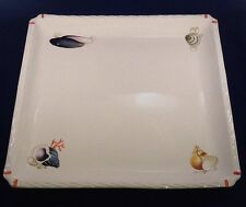 Este CE for Neiman Marcus Underwater Seabed Large Square Platter Hand Painted