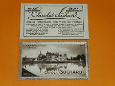 CHROMO PHOTO CHOCOLAT SUCHARD 1928 FRANCE CHANTILLY CHATEAU OISE