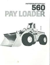 INTERNATIONAL 560 PAYLOADER BROCHURE - BX105