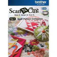 Brother Scan N Cut CAUSB1 Quilt Patterns on USB New