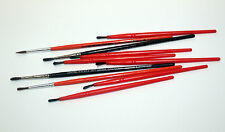 Lot 10 pinceaux peinture aquarelle pointe fine fin N°2 à 6 paint brushes pinseln