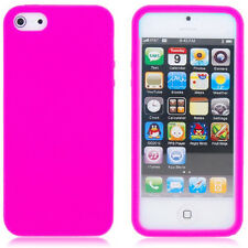 SOFT FLEXIBLE SILICONE GEL RUBBER SKIN BACK CASE COVER FOR  iPHONE SE 5S 6S Plus