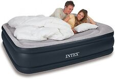 Deluxe Queen Air Mattress Bed Inflatable Blow Up Airbed Built-in Pump and Pillow