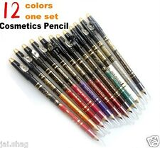 (12 Pcs)ADS EYELINER / LIP LINER PENCIL EXTRA WATERPROOF PROTECTIVE SUPER COVER