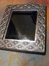 Modern Moroccan style Glass Small Square SILVER METAL Frame Mirror morrocan NEW