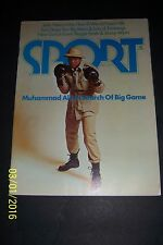 1974 Sport Magazine CASSIUS CLAY Muhammad ALI  News Stand IN SEARCH OF BIG GAME