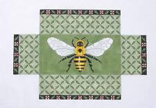 SP.ORDER ~ Susan Roberts Bumble Bee Brick Cover Door Stop Needlepoint Canvas