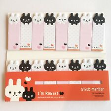 120 Sheets Cute Animal Rabbit Mini Sticky Notes Page Marker Memo Tab Sticker UK