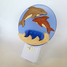 LED Nursery Night Light for Baby Dolphin Design - UK Plug In