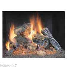 Natural Gas Logs Wood Burning Fire Place Fireplace Realistic Flames Insert Stove