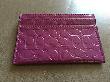 NWT Coach Embossed Liquid Gloss Credit Card Case ~ F62544 IRIS