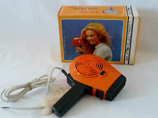 Vintage Aka LD66 Orange Electric Hair Dryer New with Box