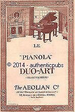 PUBLICITE PIANO PIANOLA DUO ART ELECTRIQUE THE AEOLIAN C° DE 1926 FRENCH AD PUB