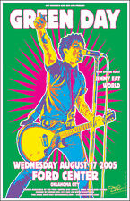 GREEN DAY 2005 Original Oklahoma City Concert Poster Signed