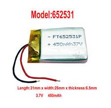 3.7V 450mAh 652531 Li-polymère cellulaire batterie rechargeable pour PSP GPS