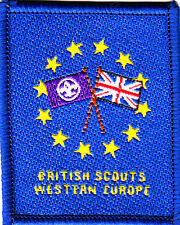Boy Scout Badge Ext BRITISH SCOUTS WESTERN EUROPE County 2009 Issue