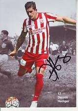 FOOTBALL carte joueur DENIS HEDIGER équipe FC THUN signée